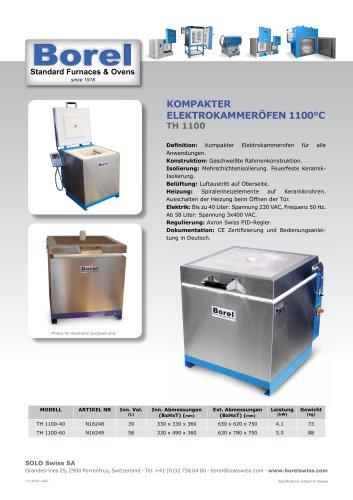 Kompakter Elektrokammeröfen 1100 °C - TH 1100