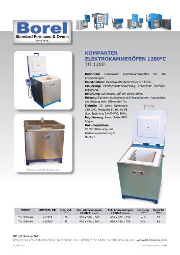 Kompakter Elektrokammeröfen 1280 °C - TH 1280