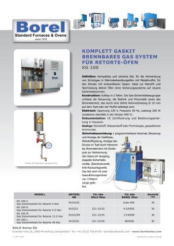 Komplett Gaskit brennbares Gas System für Retorte-öfen- KG 100