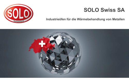 Präsentation SOLO Swiss Group. Industrieöfen für die Wärmebehandlung von Metallen.