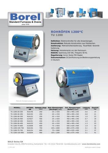 Rohröfen 1200 °C - TU 1200