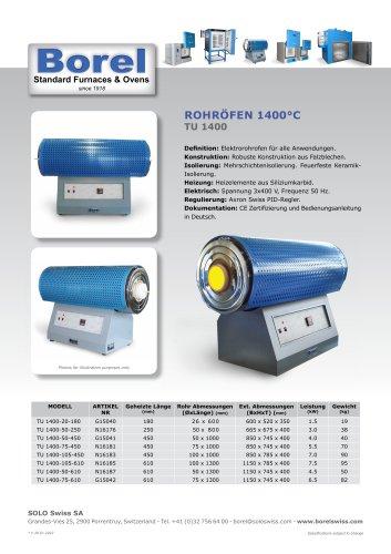 Rohröfen 1400 °C - TU 1400