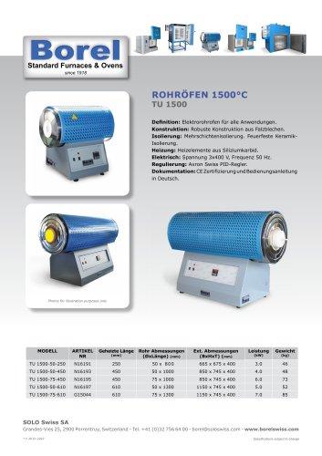 Rohröfen 1500 °C - TU 1500