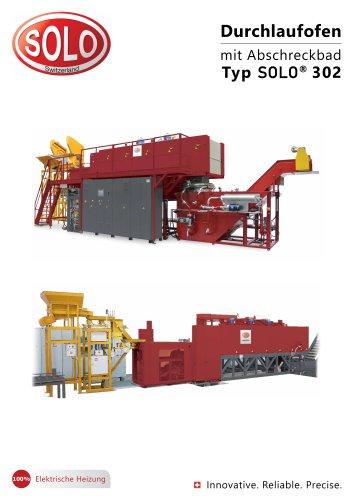 SOLO Swiss 302 Durchlaufofenlinie mit Abschreckbad