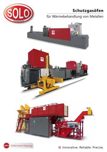 SOLO Swiss Schutzgasöfen für Wärmebehandlung von Metallen