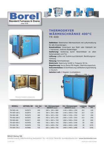 Thermodryer Wärmeschränke 400 °C - TR 400