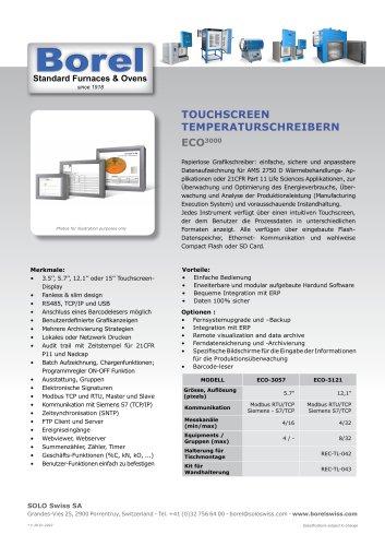 Touchscreen temperaturschreibern ECO 3000