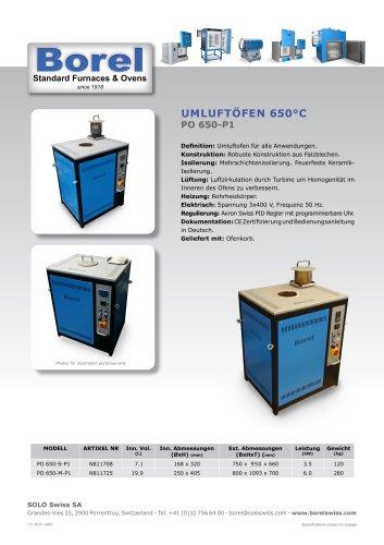 Umluftöfen 650 °C - PO 650 P-1