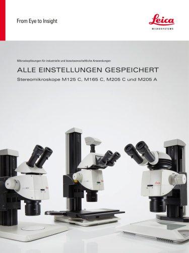 Leica M125 C, M165 C, M205 C, M205 A