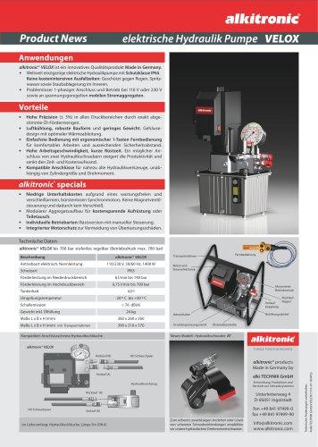 Elektrische Hydraulikpumpe alkitronic® VELOX