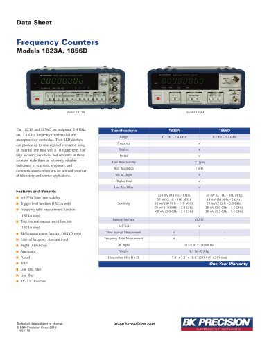 2.4 GHz Universal Frequency Counter with Ratio Function