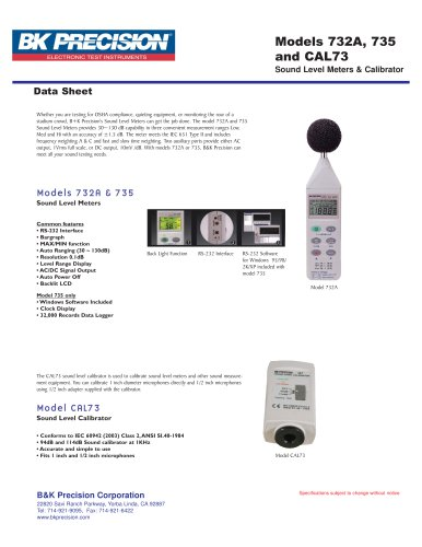 Datalogging Digital Sound Level Meter with RS-232 Software and Cable