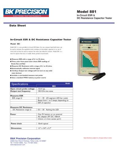 In-Circuit ESR Tester