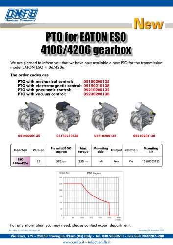 PTO FOR EATON ESO 4106/4206 GEARBOX