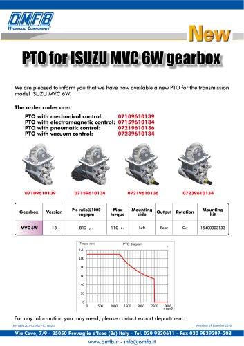 PTO FOR ISUZU MVC 6W GEARBOX