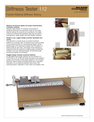 Fabric Stiffness Tester