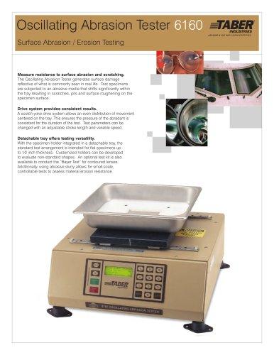 TABER Oscillating Abrasion (Sand) Tester
