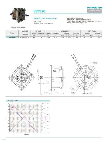 TOPBAND-Brushless DC MOTOR-BL9920