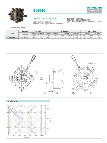 TOPBAND-Brushless DC MOTOR-BL9930