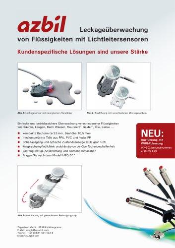 Leckageüberwachung von flüssigkeiten mit lichtleitersensoren mit WHG Zulassung.