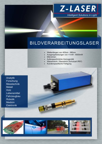 Laser für Bildverarbeitung / Vision