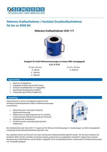 Referenz Kraftaufnehmer / Hochlast Druckkraftaufnehmer für bis zu 5000 kN