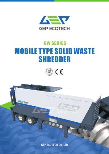 GW series mobile solid waste shredding station