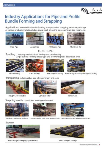Automatic Packing System for Pipes Tubes and Bars