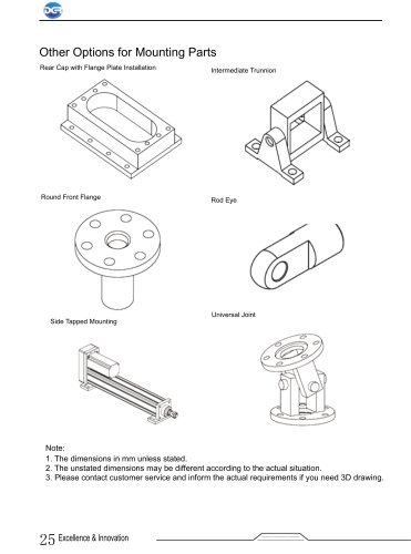 Mounting Parts of DGR Precision electric cylinder