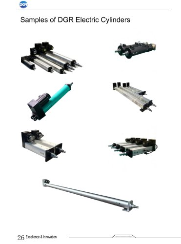 Samples of DGR Electric Cylinders