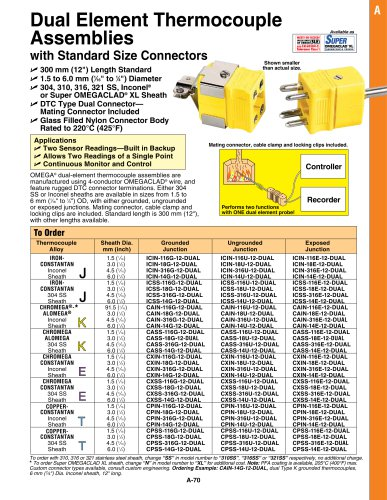 1.5 to 6mm Diameter MI Construction
