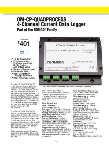 4 Channel Process Current Data Logger OM-CP-QUADPROCESS