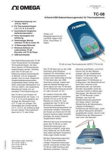8-Kanal-USB-Datenerfassungsmodul für Thermoelemente