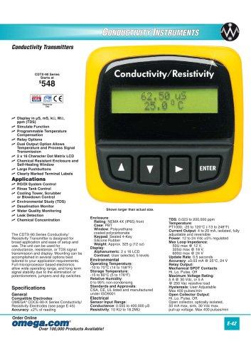 Conductivity Transmitters  CDTX-90 Series