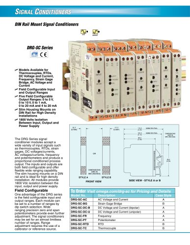 DIN Rail Mount Signal Conditioners