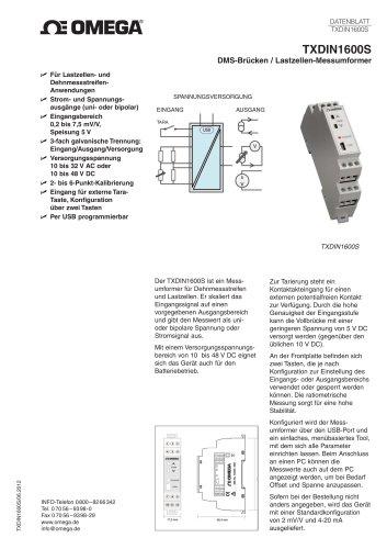 DMS-Brücken / Lastzellen-Messumformer