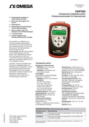 Hochgenaues Digitalbarometer Präzisionsmanometer für Absolutdruck
