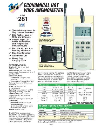 Hot Wire Anemometer   HHF42