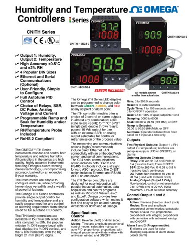 Humidity and Temperature  Controllers