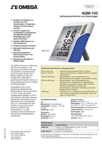 Kohlendioxid-Monitor und Datenlogger