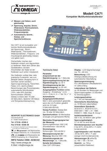 Kompakter Multifunktionskalibrator CA71