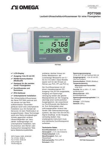 Laufzeit-Ultraschalldurchflussmesser für reine Flüssigkeiten