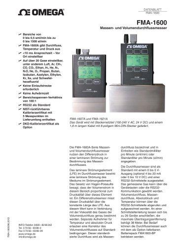 Massen- und Volumendurchflussmesser