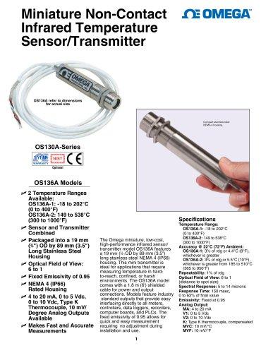Miniature Non-Contact Infrared Temperature Sensor/Transmitte