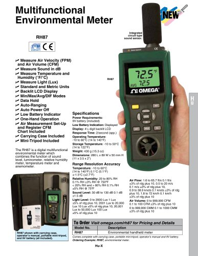 Multifunctional Environmental Meter