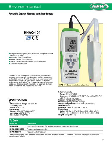 Portable Oxygen Monitor and Data Logger