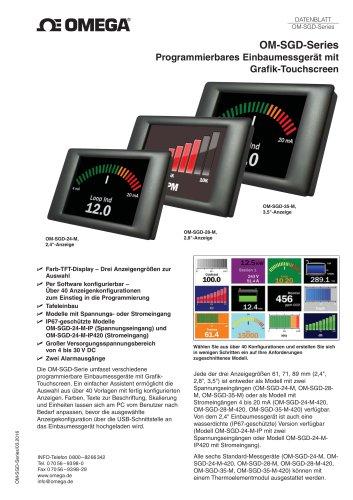 Programmierbares Einbaumessgeràt mit Grafik-Touchscreen
