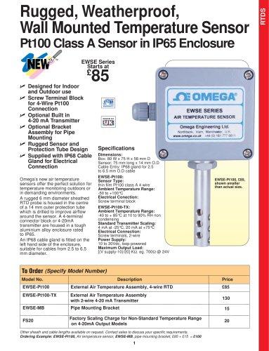 Rugged, Weatherproof, Temperature Sensor EWSE