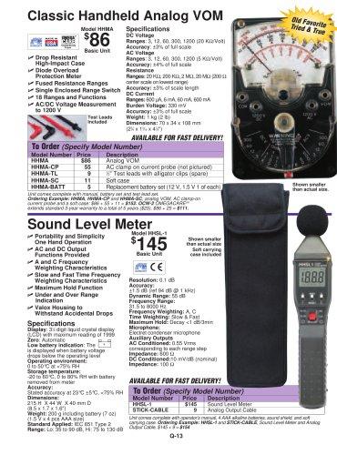 Sound Level Meter  HHSL