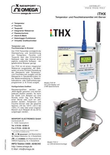Temperatur- und Feuchtetransmitter mit integriertem Webserver